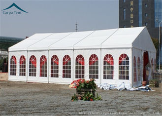 Cina Windproof Outdoor Event Tents With Aluminium Frame And Clear Windows pemasok