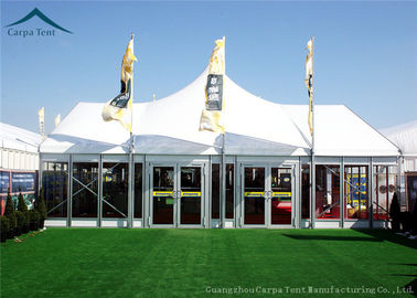 Cina Width 10m Elegant Mixed Glass Wall Canopy Tent Structures For Outside Events Distributor