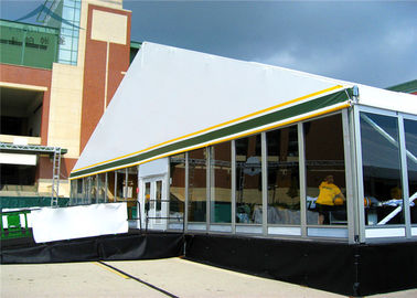 Cina Waterproof  Marquees Tent With 100% Space Usage And Glass Walls Distributor